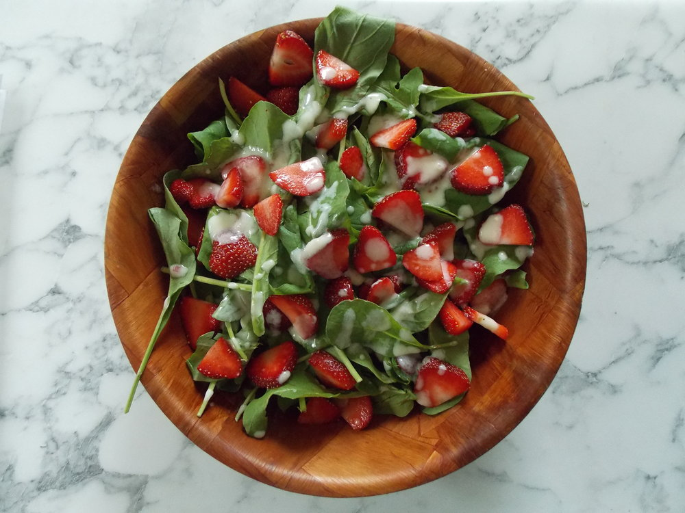 Intervale Food Hub Strawberry Spinach Salad