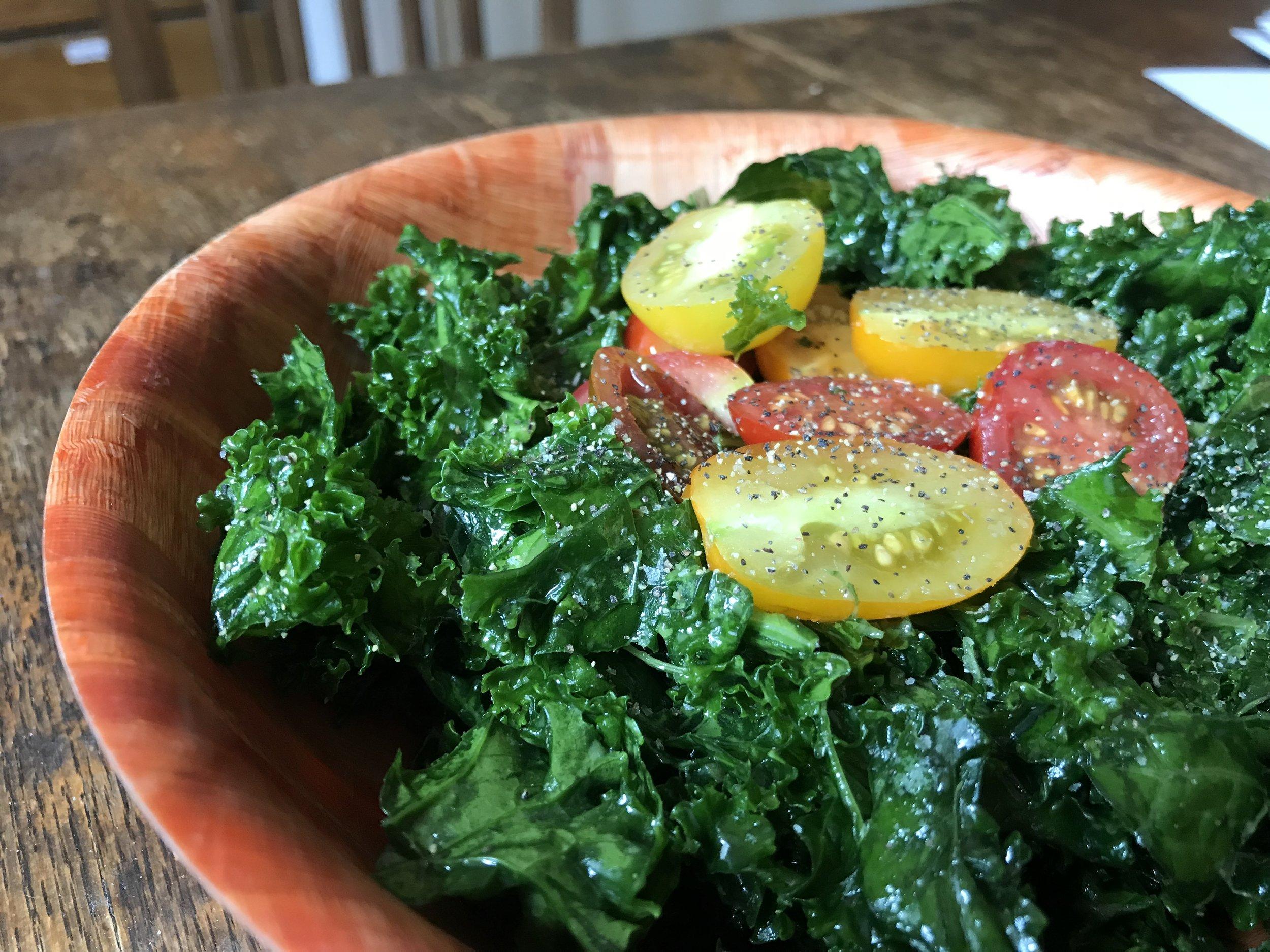 """""""Marinated"""" Kale Salad"""