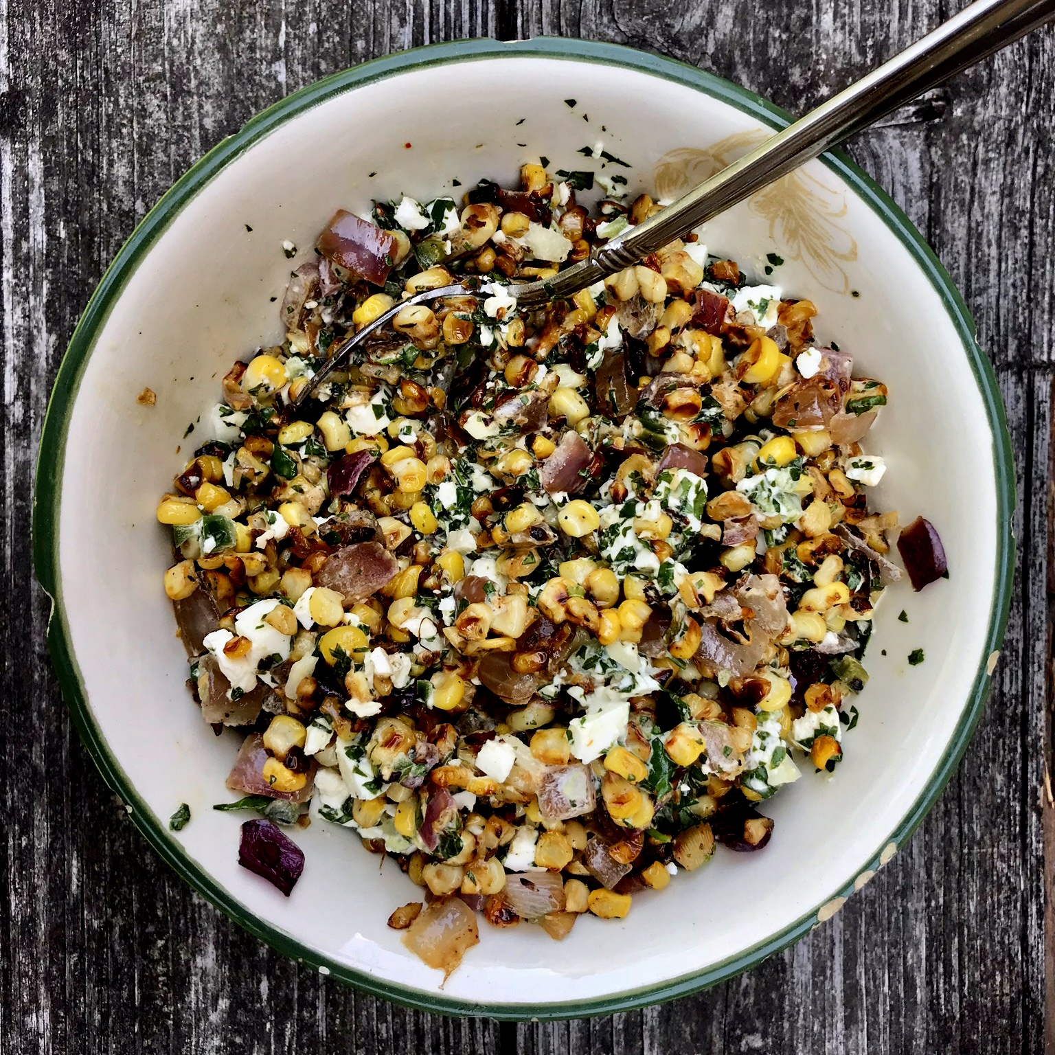 """""""Elote"""" Salad with Corn and Feta"""