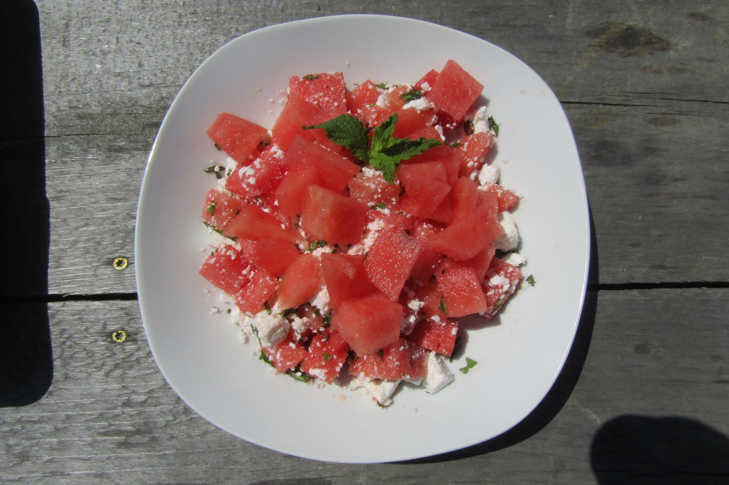 Watermelon-Feta Salad with Mint