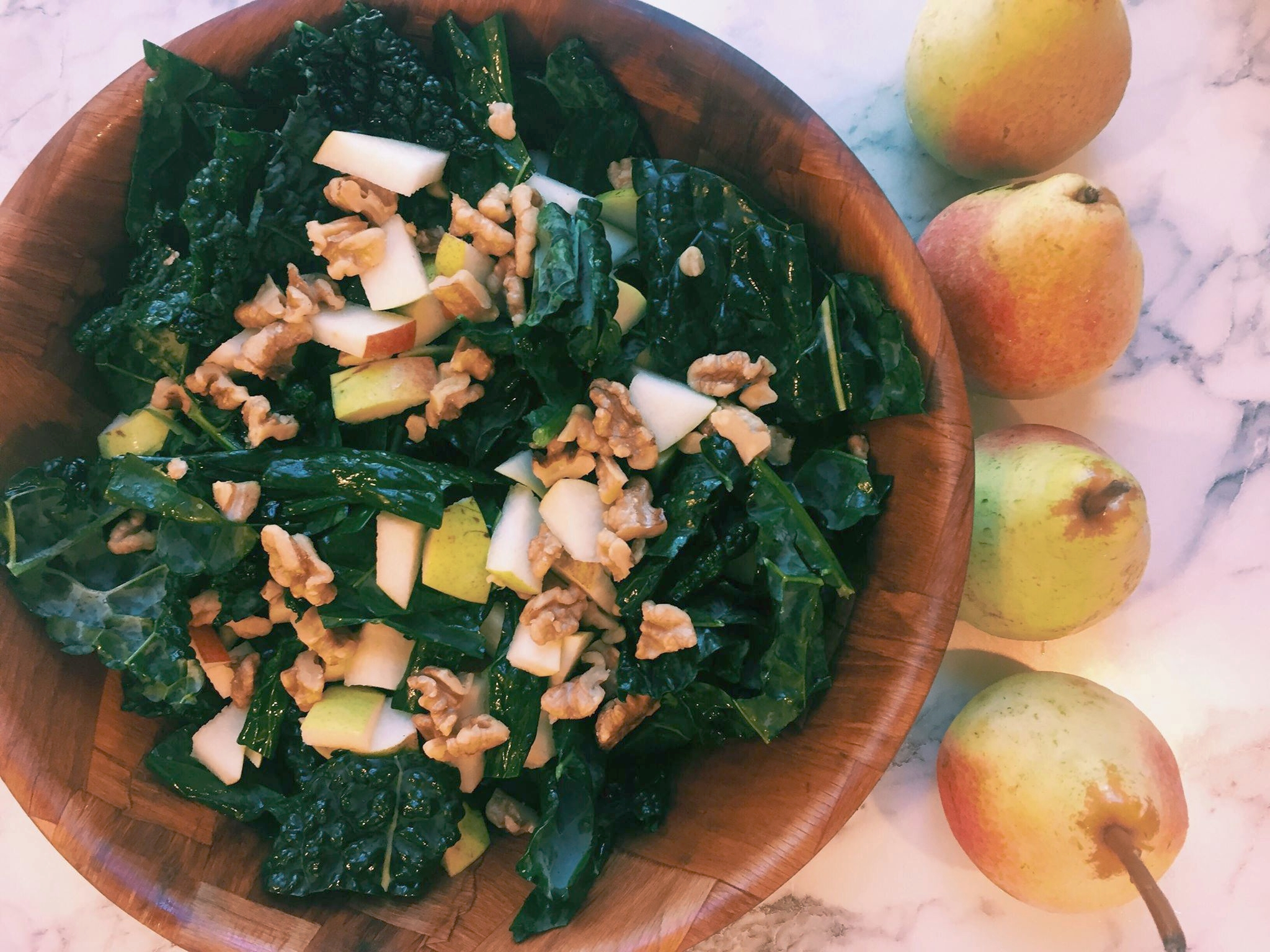 kale and pear salad
