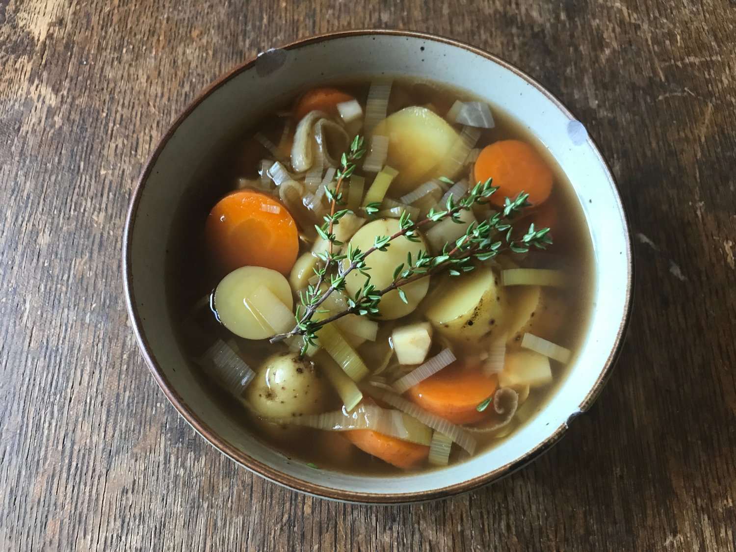 Comforting Vegetable Stew with Carrots, Onions, Potatoes, and Celeriac