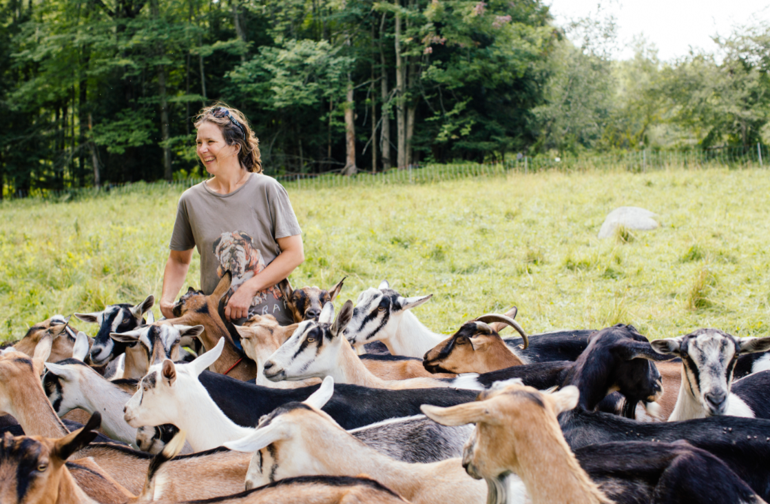 Kristin Doolan of Does' Leap Farm in Fairfax, VT
