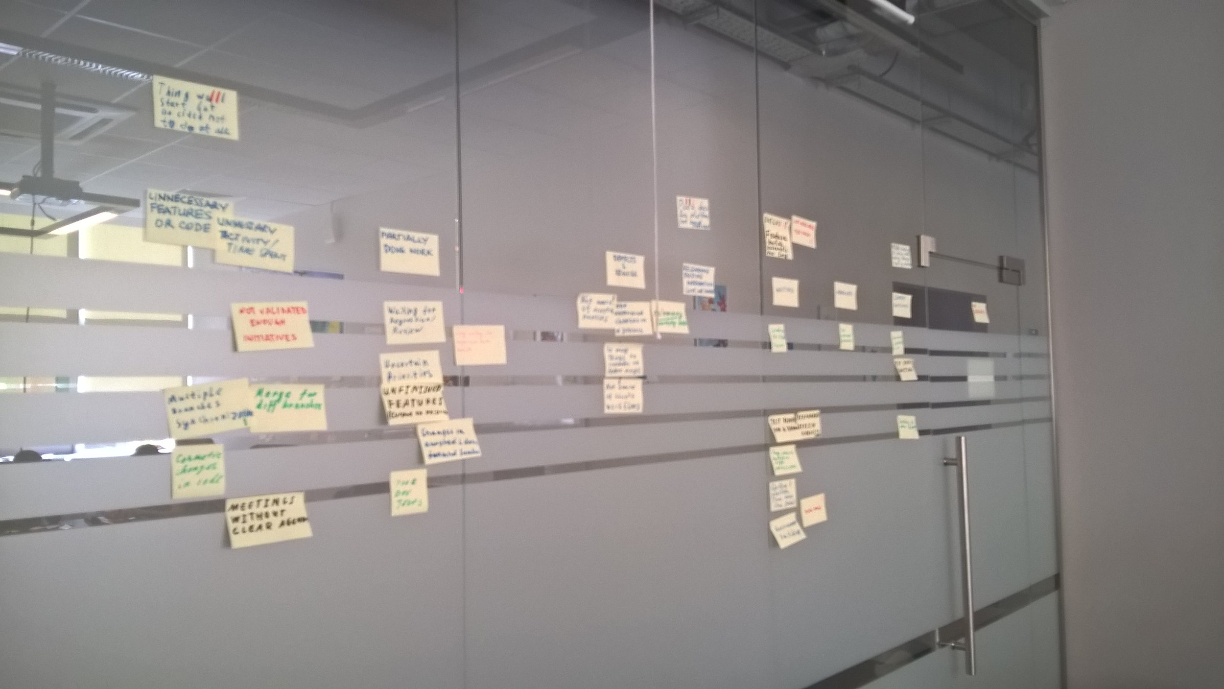 retrospective wall -