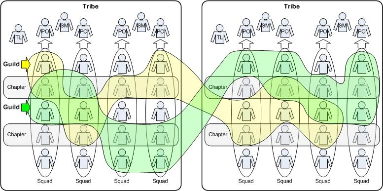 Tribe/squad Organization Design
