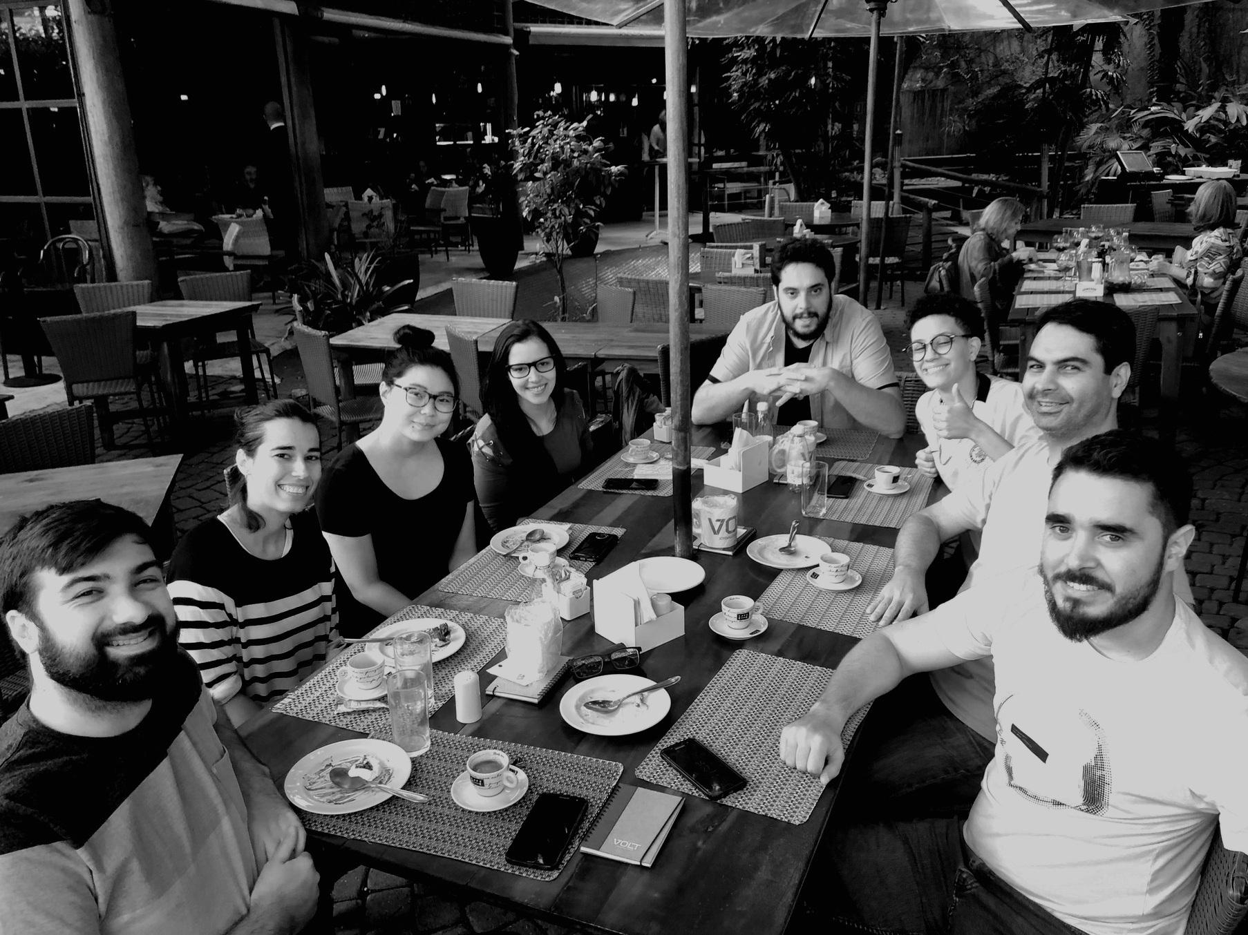 Equipe do Volt Data Lab, novembro de 2018. Crédito: Moça da mesa ao lado