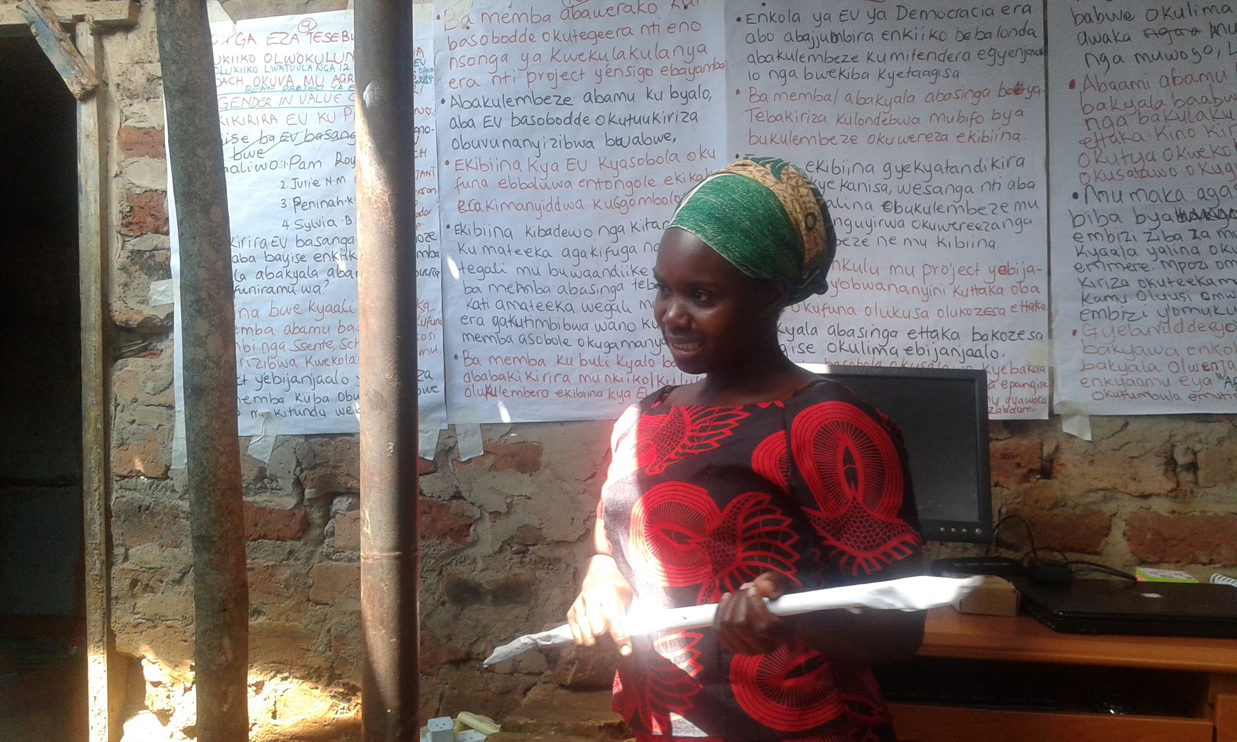 Sylvia - hardworking woman, stepping up to work for gender equality in Empowered Voices.
