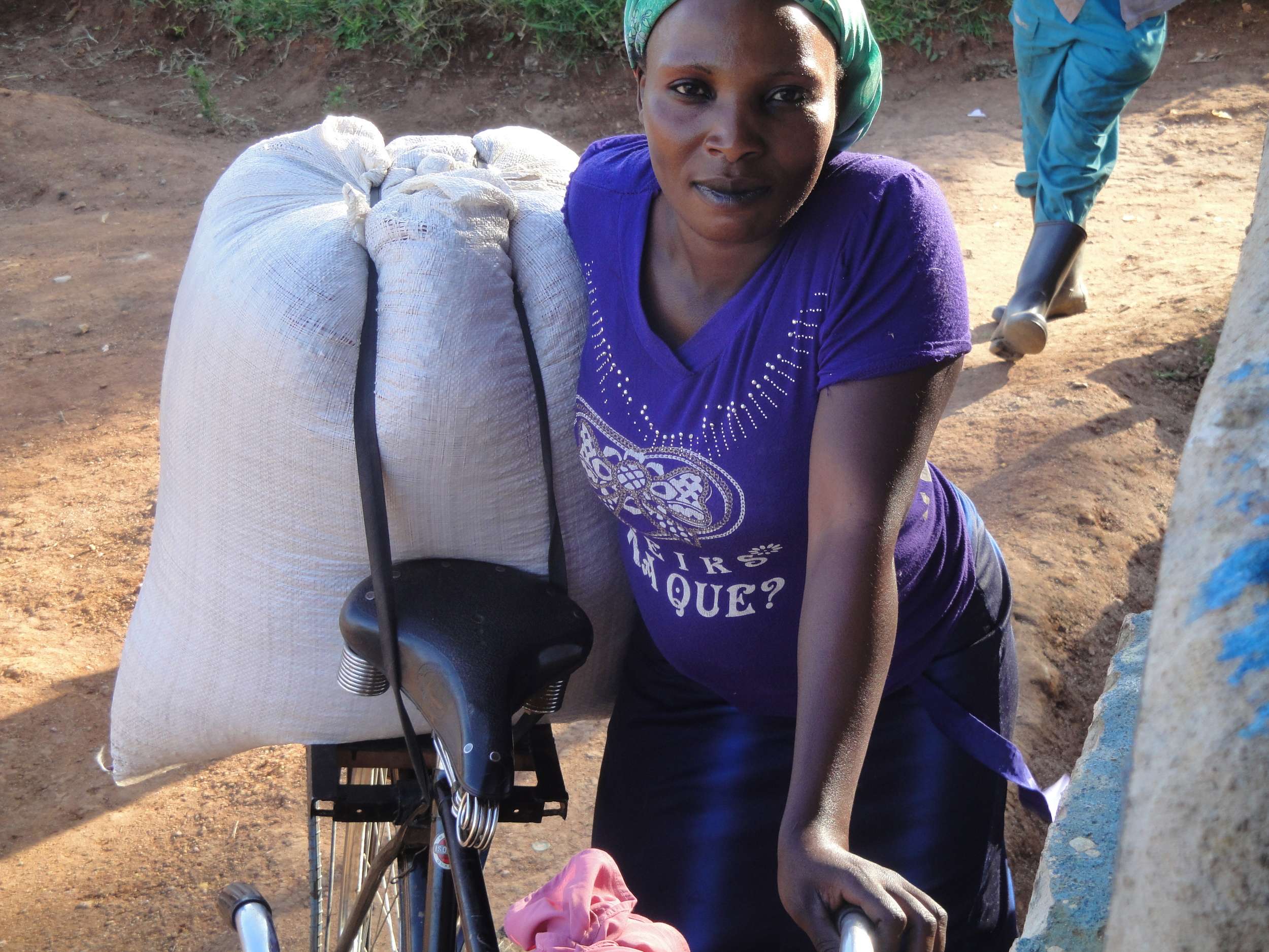 Milly - a strong woman taking charge of group marketing of the harvested beans.