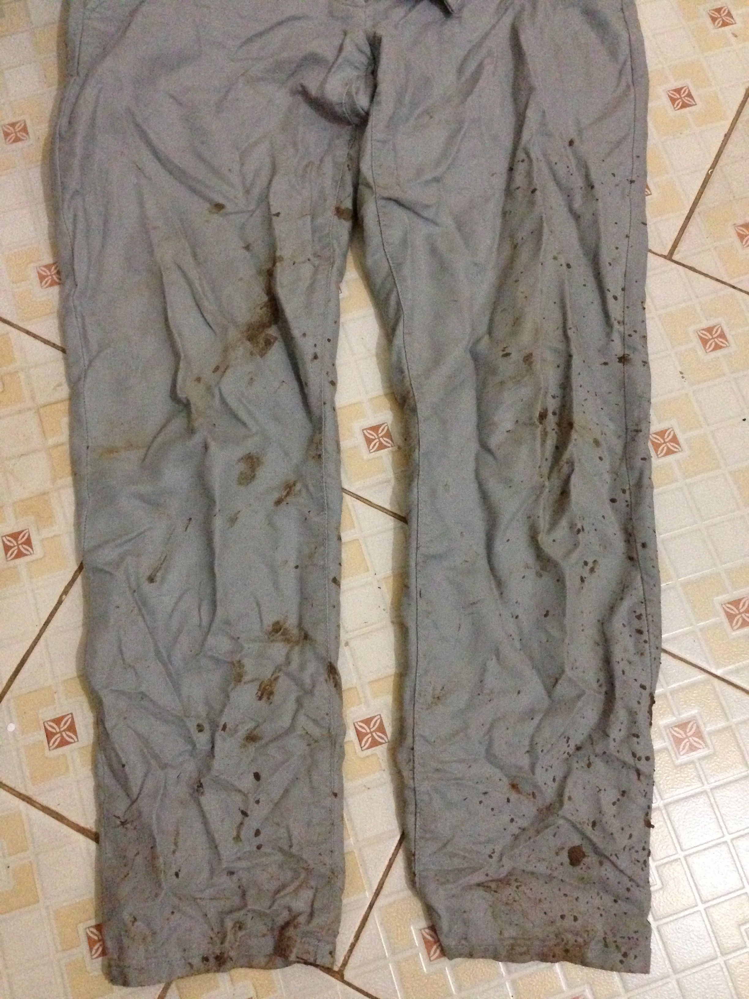 Pants after a mud shower!