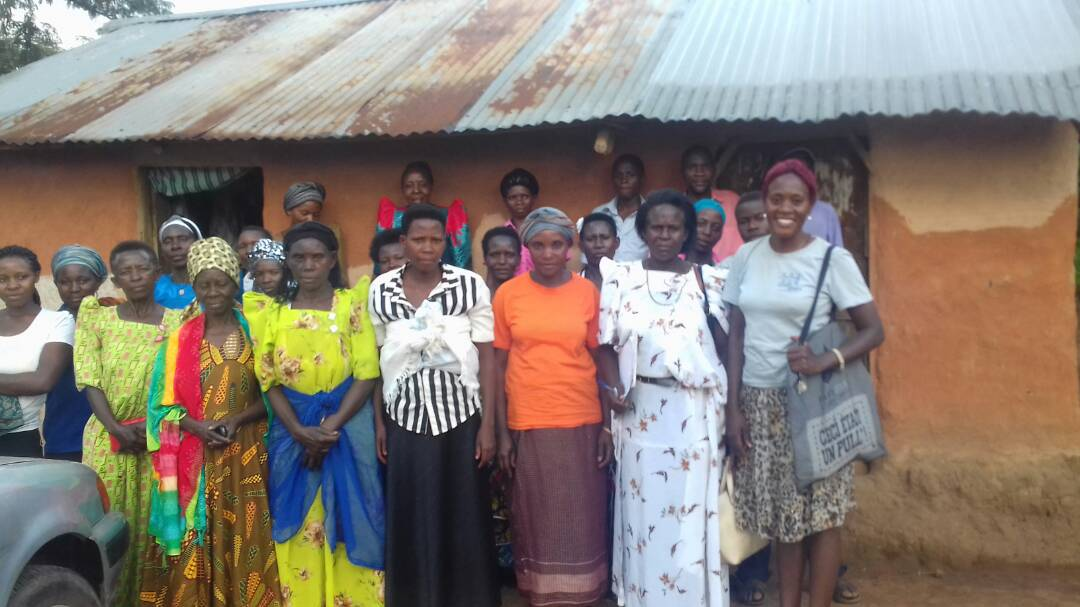 Empowered Voices members in the village Nkandwa.