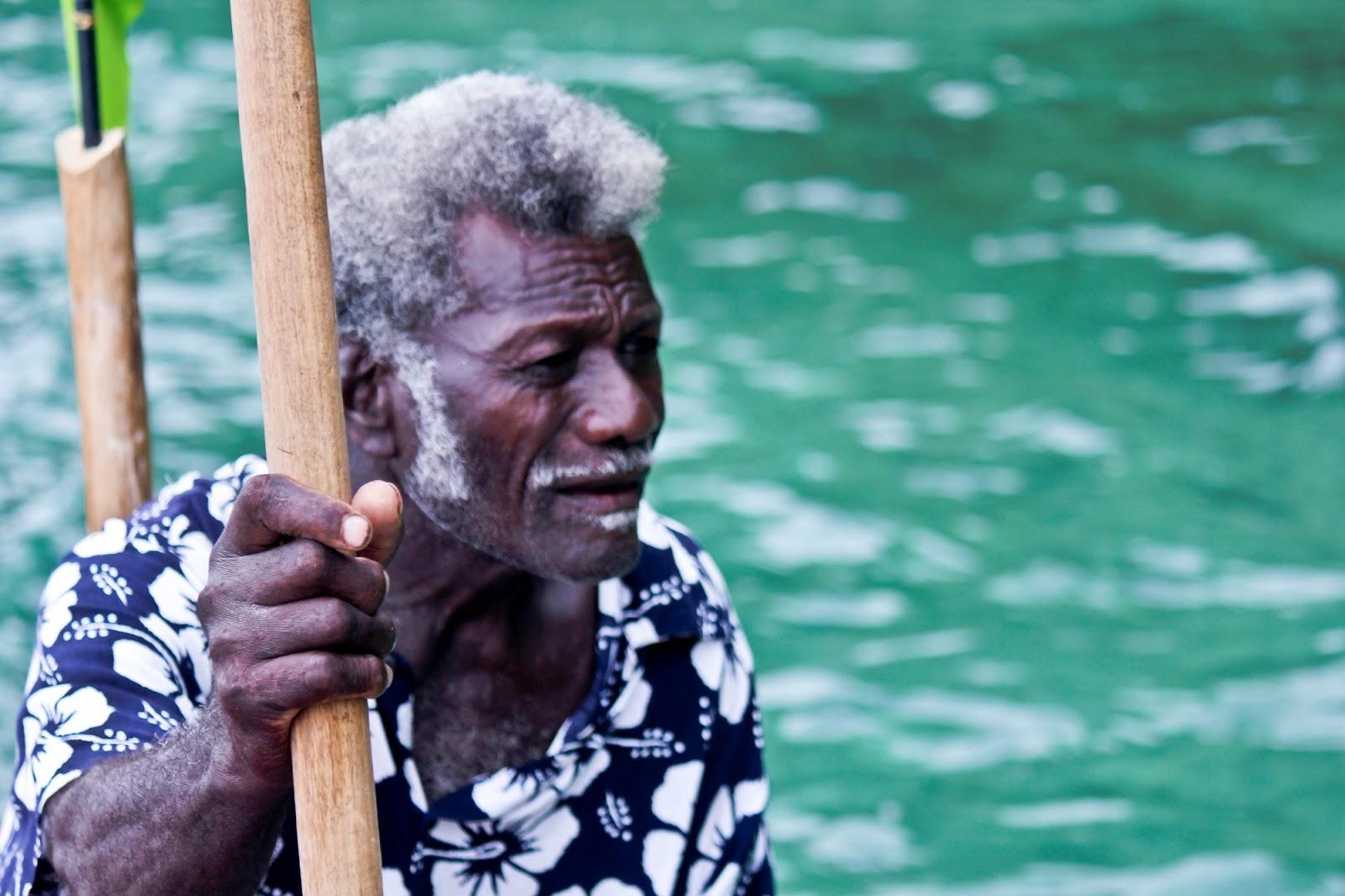 Eric Koti, the famed crocodile hunter from Nusatuva, Kolombangara