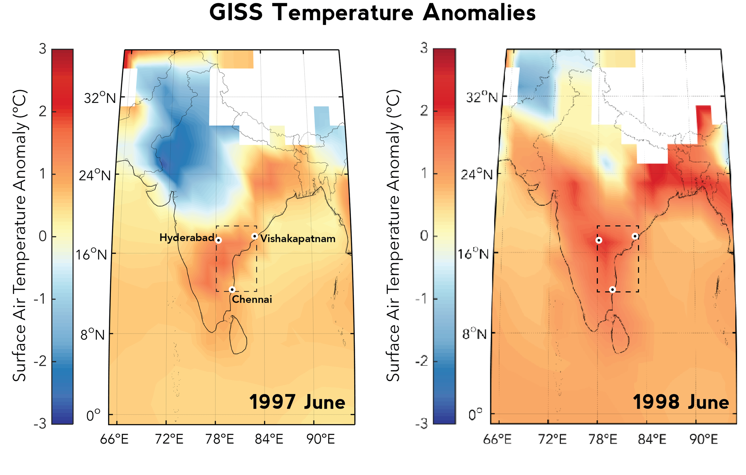 May-June 1998, during the '97-98 El Niño event, was the deadliest heat wave to hit India