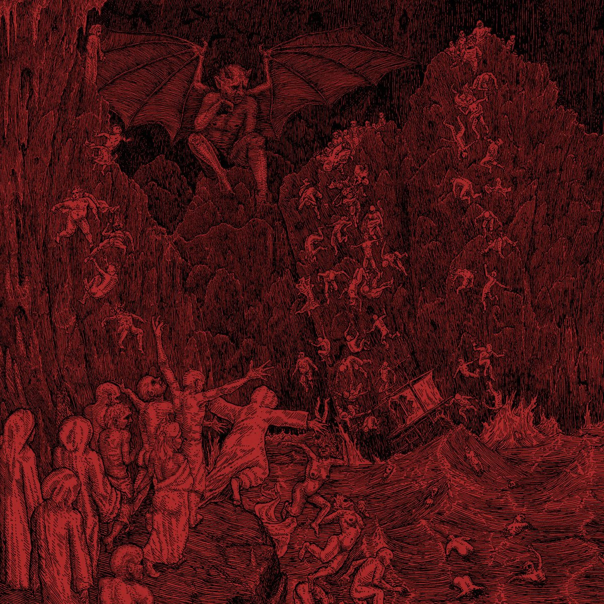 01. Hell - Hell - Oh wow, this album came out of nowhere. Hell is the soundscape of the apocalypse rendered in sludge format. Hell consists of thick, viscous, brownish riffs repeatedly drilled into your cranium without any sign of subsidence, as the drums and bass summon up an ominous and ethereal background hellscape. The word demonic is freely used and abused in metal literature, but I cannot think of a more appropriate descriptor for the vocals on this record. Hell also shows signs of unexpected sophistication where the closing tracks utilize acoustic guitars and violins to color the hellscape with even more malevolence.