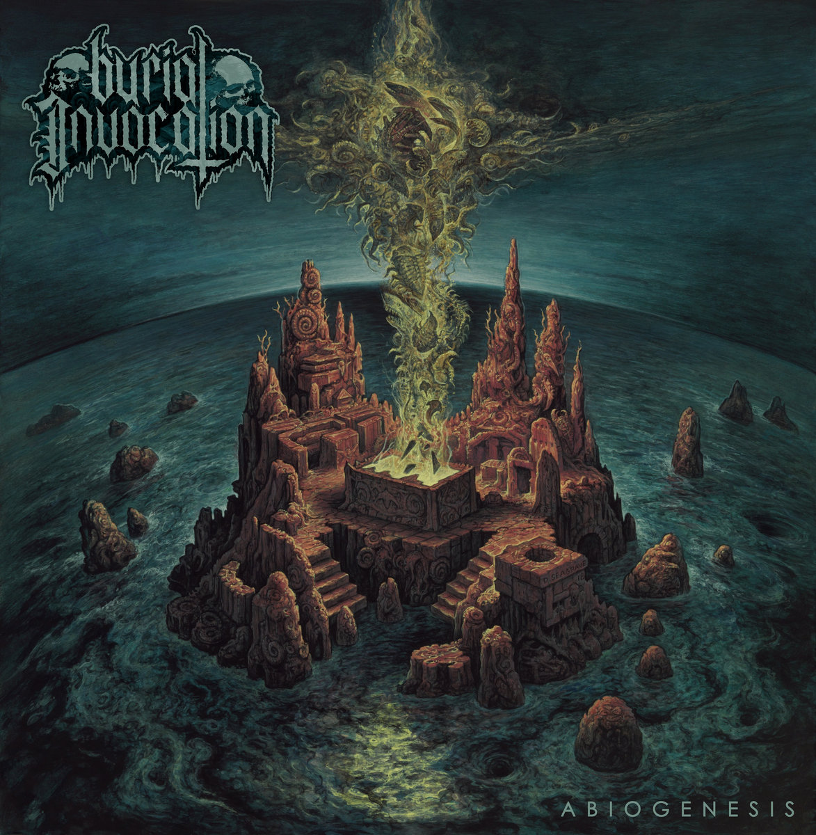 8. Burial Invocation - Abiogenesis - Abiogenesis came out of nowhere! The debut album from Burial Invocation (of Ankara, Turkey) is an exemplary display of ominous, murky, old-school death metal. This album invokes the spirit of Demilich, Nocturnus, early Immolation, and Dimembered amongst others, and perfectly straddles the line between Floridian brutality and Swedish creativity.