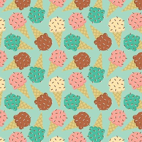 Ice Cream cones pattern on mint green. This is a fun one. Waiting for fabric swatches in the mail…