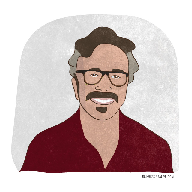 Marc Maron is a Stand-up Comedian, podcaster, writer, actor, and cat wrangler.  He hosts the incomparable  WTF Podcast , has his own show  Maron  on IFC, wrote a couple books, and has a complicated relationship with ice cream.  We good?  He is gritty illustration #3 for the Summer of Illustration series.