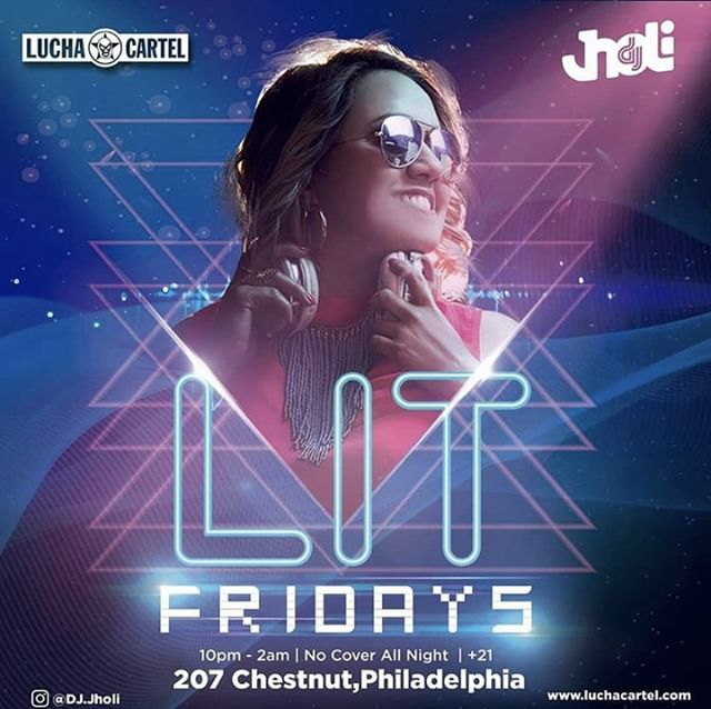 Full Moon tonight so you know things are getting wild! DJ Jholi is turning up #LuchaCartelPhilly tonight starting at 10 for Lit Fridays ✨ . . . #LitFridays #Friday #CheersToTheWeekend #FreakyFriday #FridayTheThirteenth #PhillyNightlife #OldCityPhilly