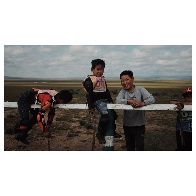 The lil jockeys of Mongolia. These kids aged 4-7 ride are about to ride a long distance horse race across the steppe. #fujiframez - - - - #cinematography #arri #amira #indiefilm #setlife #mongolia #cinematographer #fujifilm #thinkveryl #portbox #somewheremagazine #travel #filmmaking #vsco #behindthescenes #productiondesigner