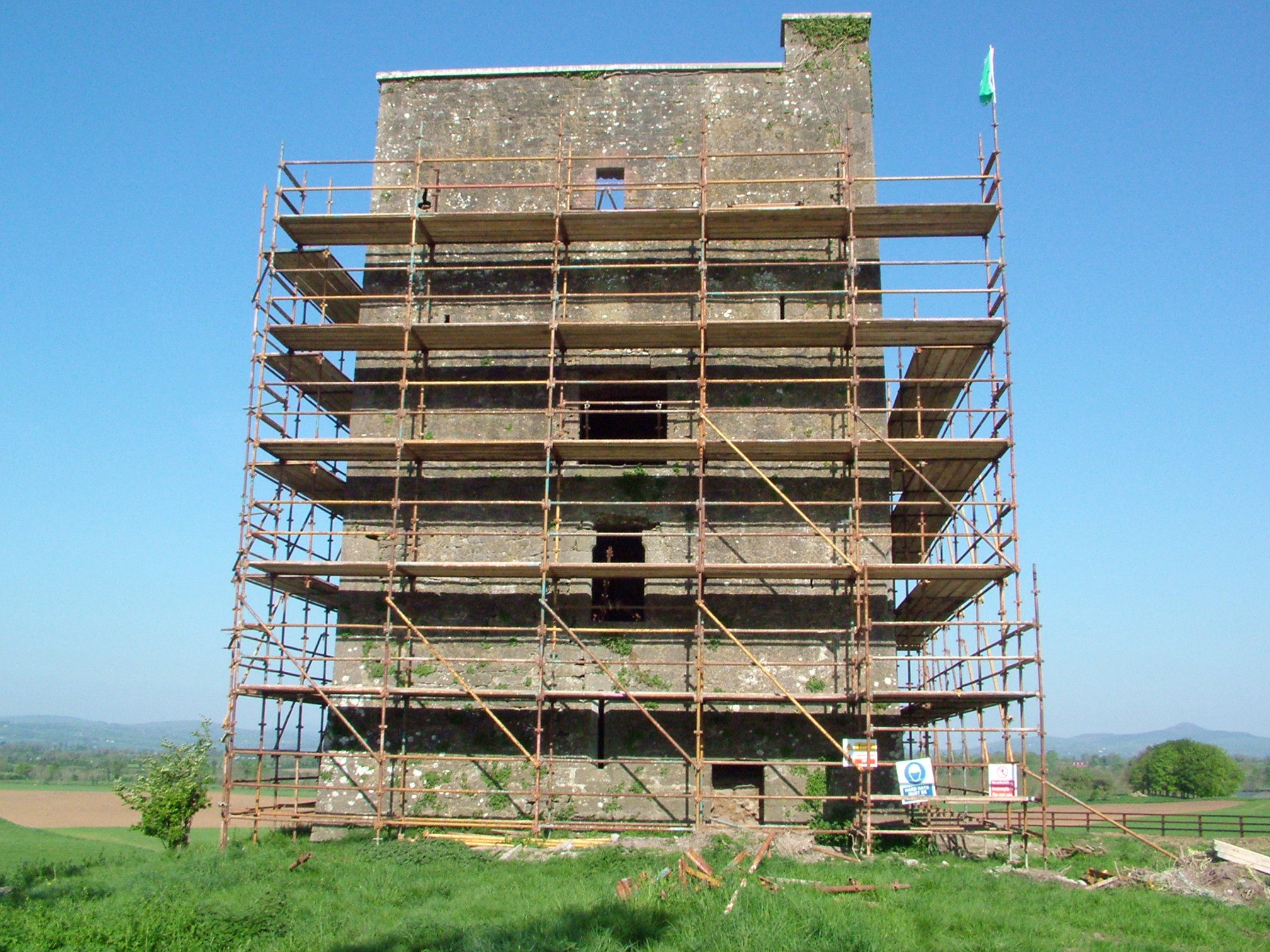 Scaffolding erected 2008