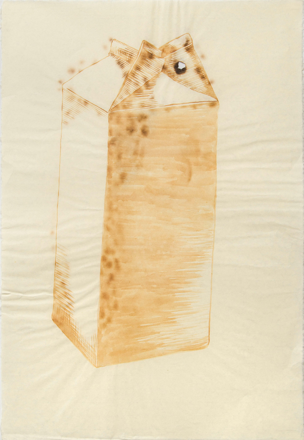 "Milk Carton 1  ©2002 Milk on Paper 39"" x  26"""