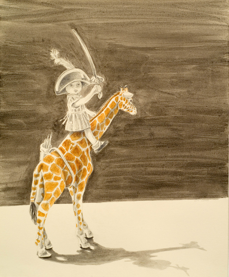 "Ungulate ©2008 Egg Tempra, Graphite and India Ink on Paper 24"" x 18"""
