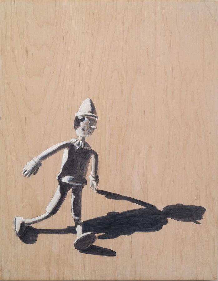 """Bendy  ©2007 Acrylic on Wood Panel 12"""" x 9"""""""
