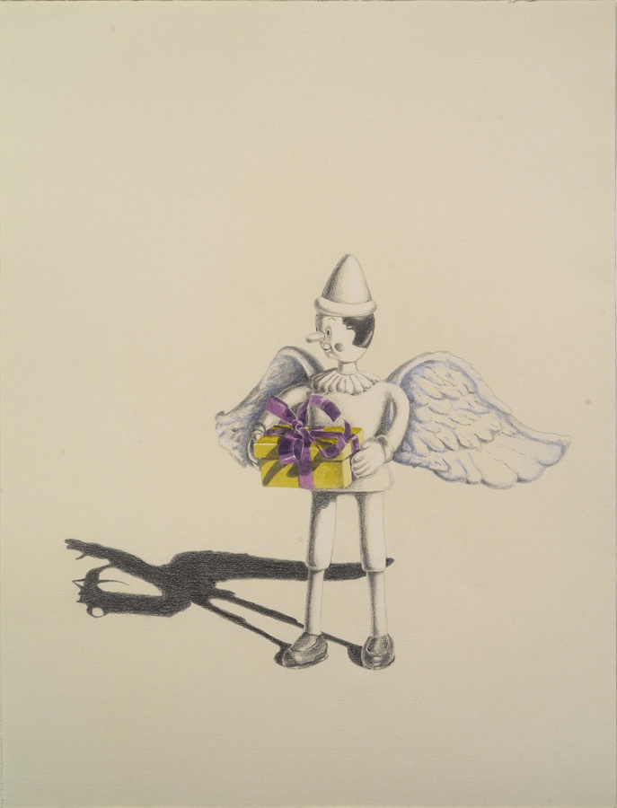 """Gifted  ©2005 Graphite and Watercolor on Paper 24"""" x 18""""  Collection Lance Eaves, Santa Fe, NM"""