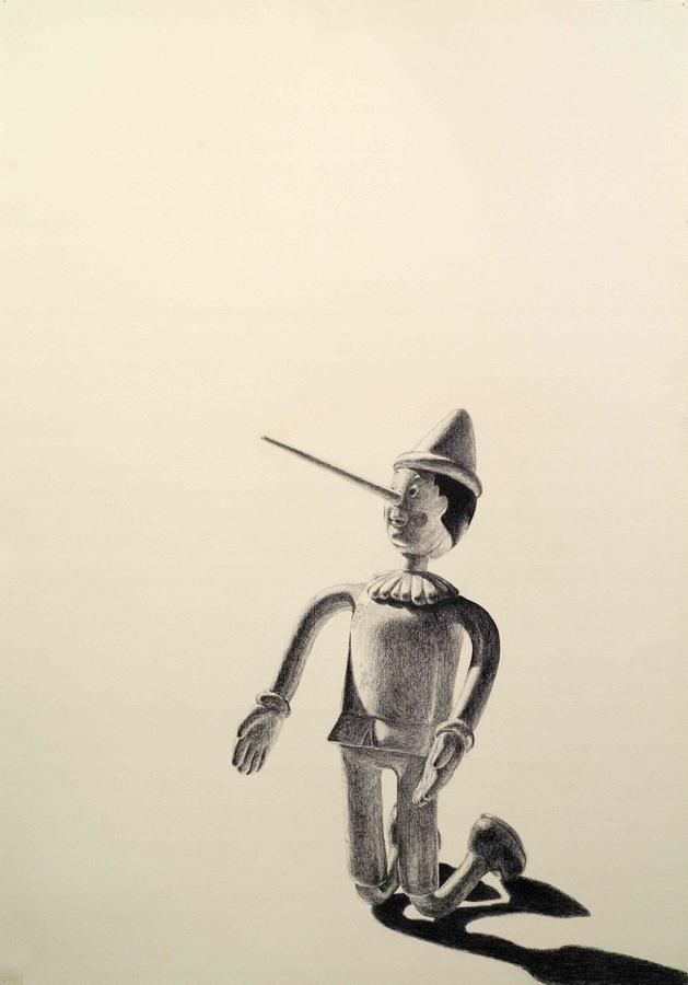"Liar  ©2006 Graphite on Paper 40"" x 28""  Collection of Julia Ward, San Francisco, CA"