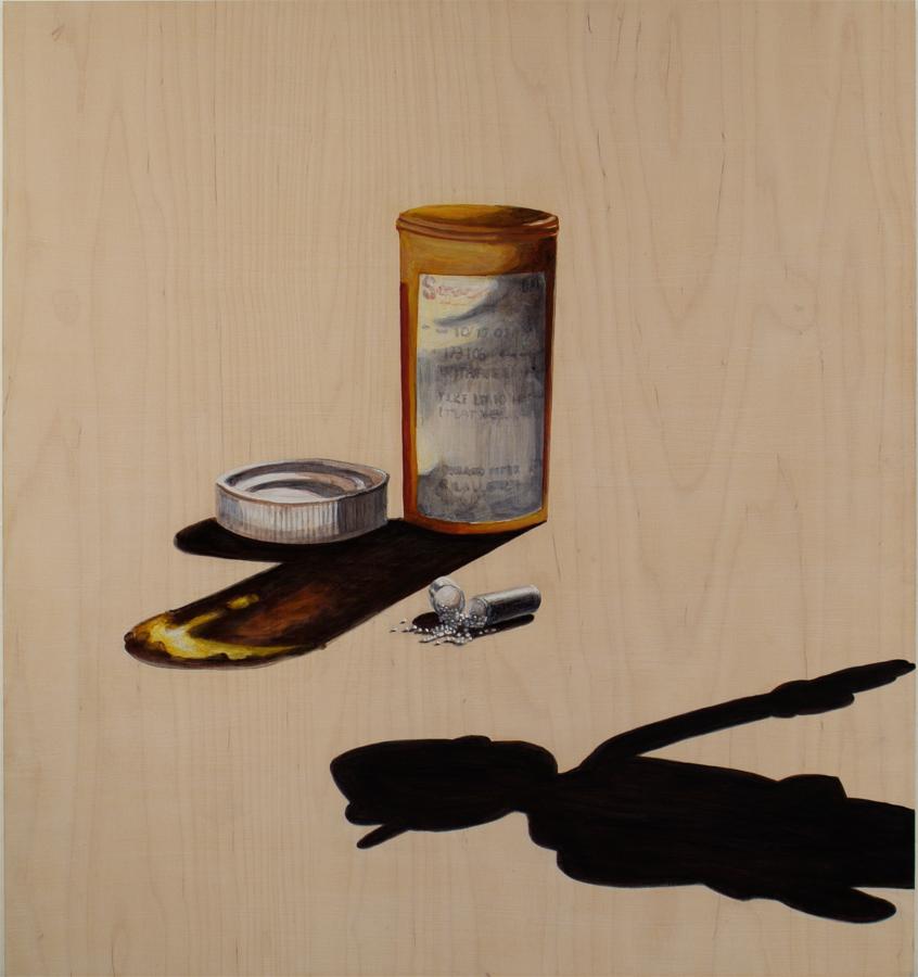 "Meds  ©2005 Acrylic on Wood Panel 30"" x 28"""