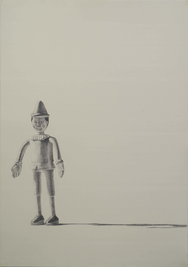 """All Boy  ©2005 Graphite on Paper 40"""" x 28""""  Collection Bruce Kirshbaum, Los Angeles, CA"""