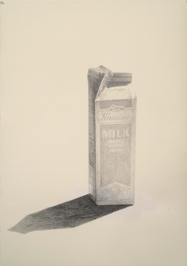 "Spilled Milk  © 2004 Acrylic and Graphite on Paper 40"" x 28"""