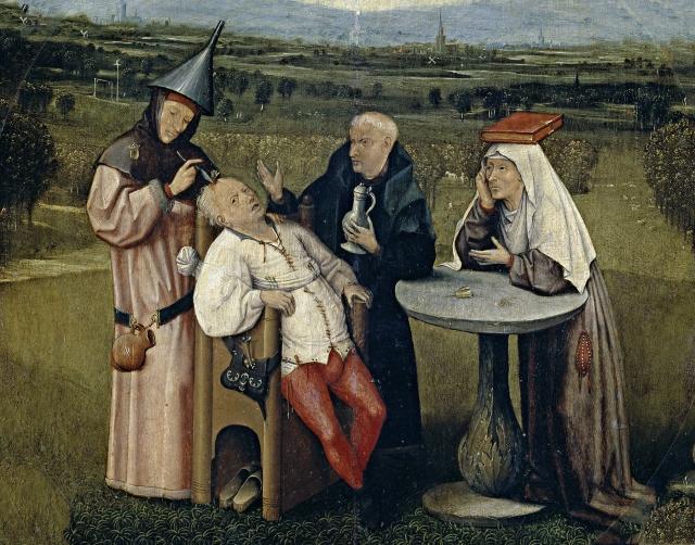 Cutting the Stone (circa 1494) by Hieronymus Bosch..jpg