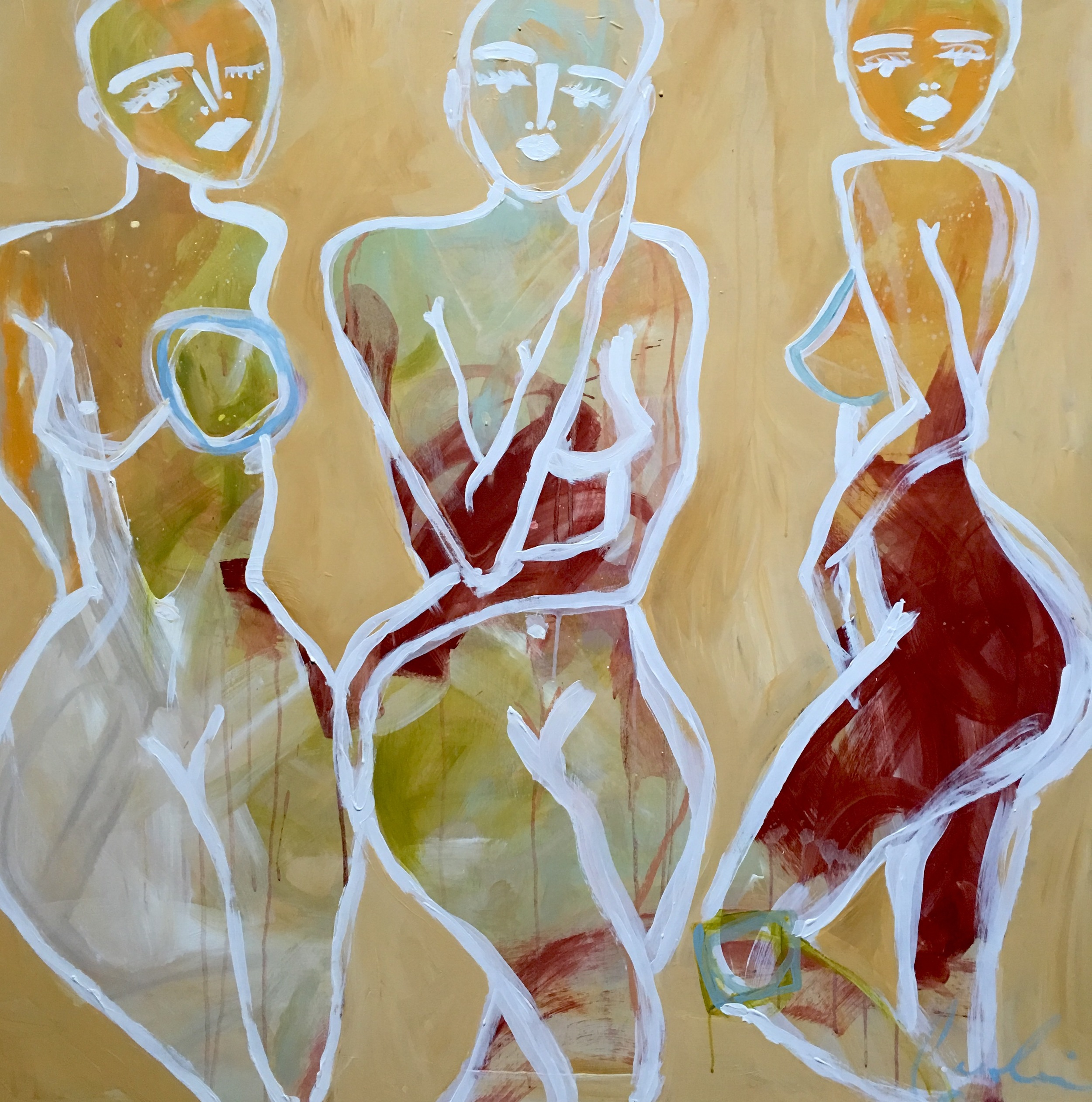 Dancing Sisters 36x36 Caroline Boykin.jpg