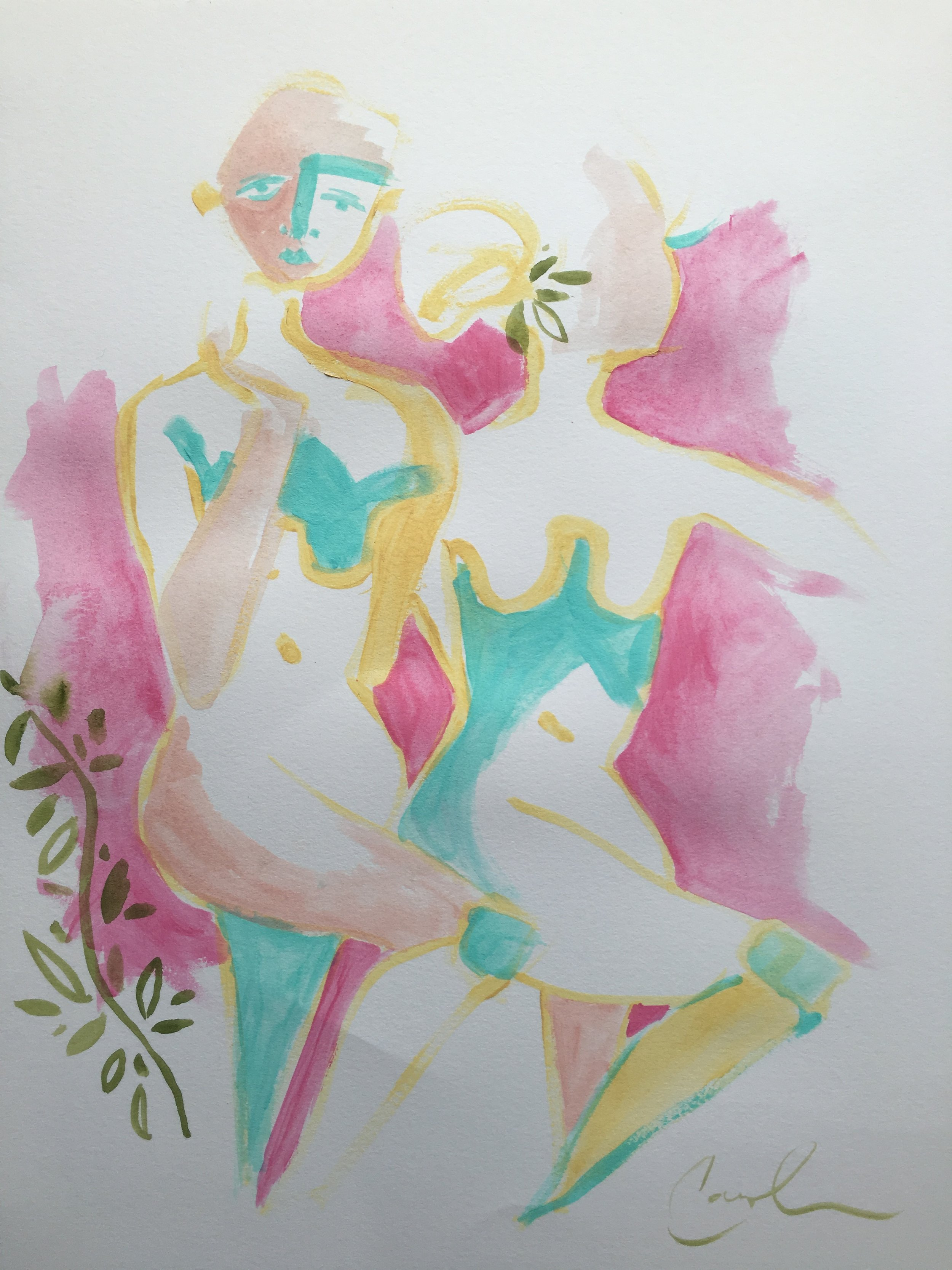 Pink & Yellow double nude 11x14 paper.JPG