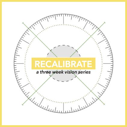 Recalibrate - A Three Week Vision Series