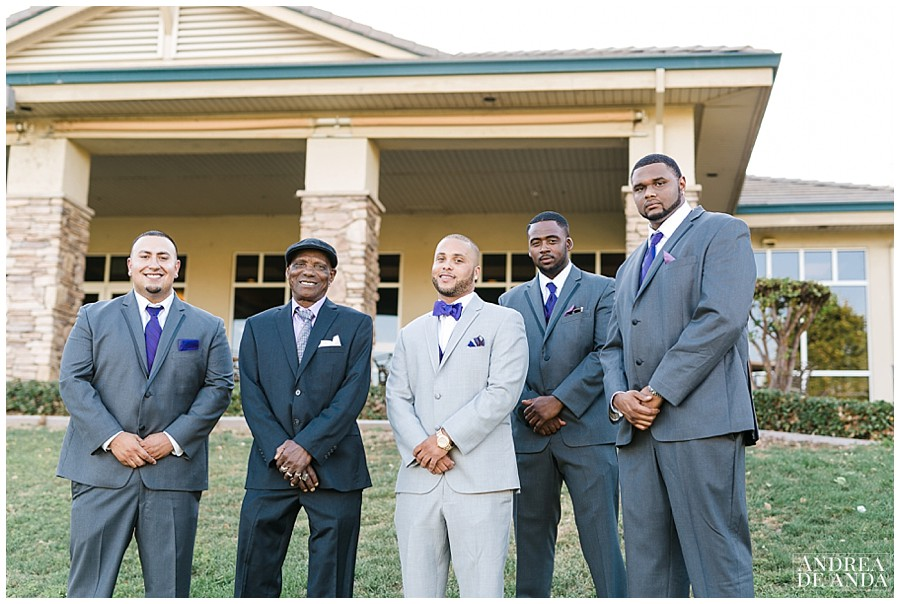 Now is the time for Stephen and his groomsmen at the Wedgewood Banquet Center