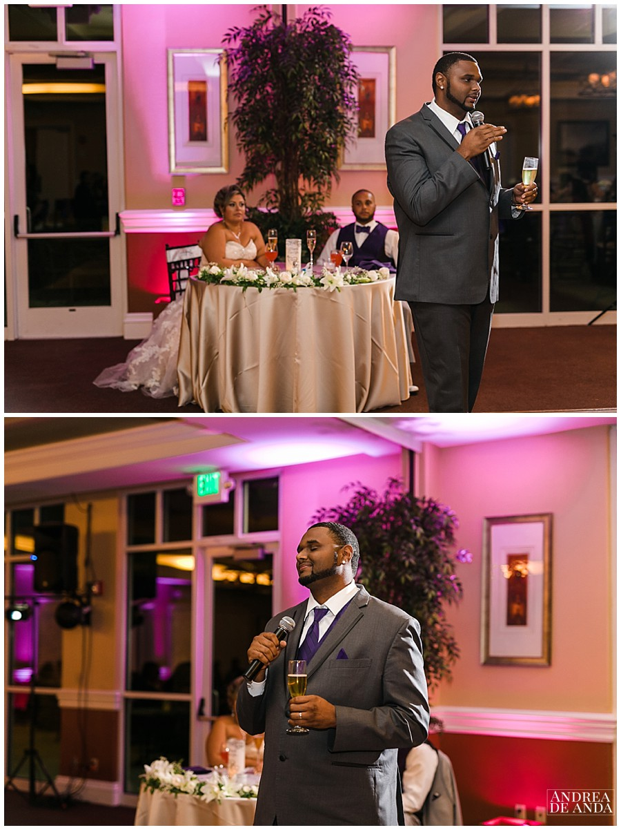 Best man speech was funny, just perfect.