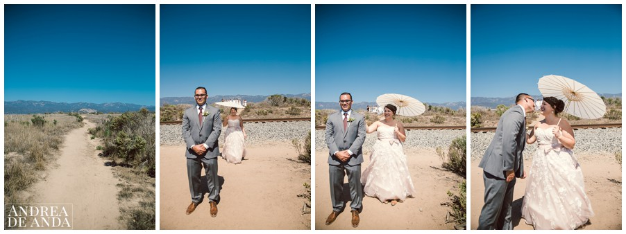 First look at the Carpinteria Bluffs. This is my favorite part of a wedding day !