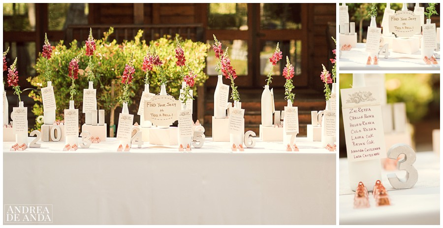 A stunning seating arrangement display! FIND YOUR SEAT AND TAKE A BELL !