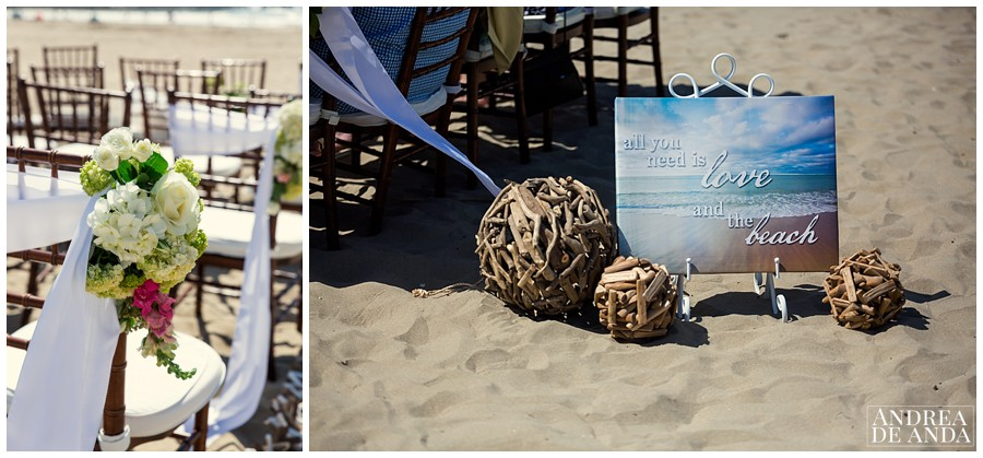 "Flower details by Lori Boe Flower Design. ""All you need is love and the beach"""