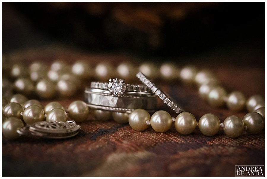 grandmother pearls on her wedding day. what a special detail for something old and borrowed.
