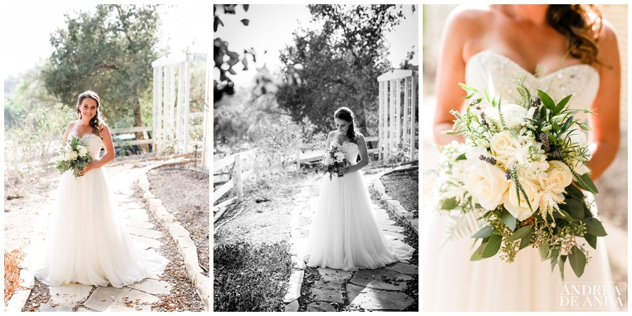 Bridal Portraits in a beautiful warm light mid October in Buellton California