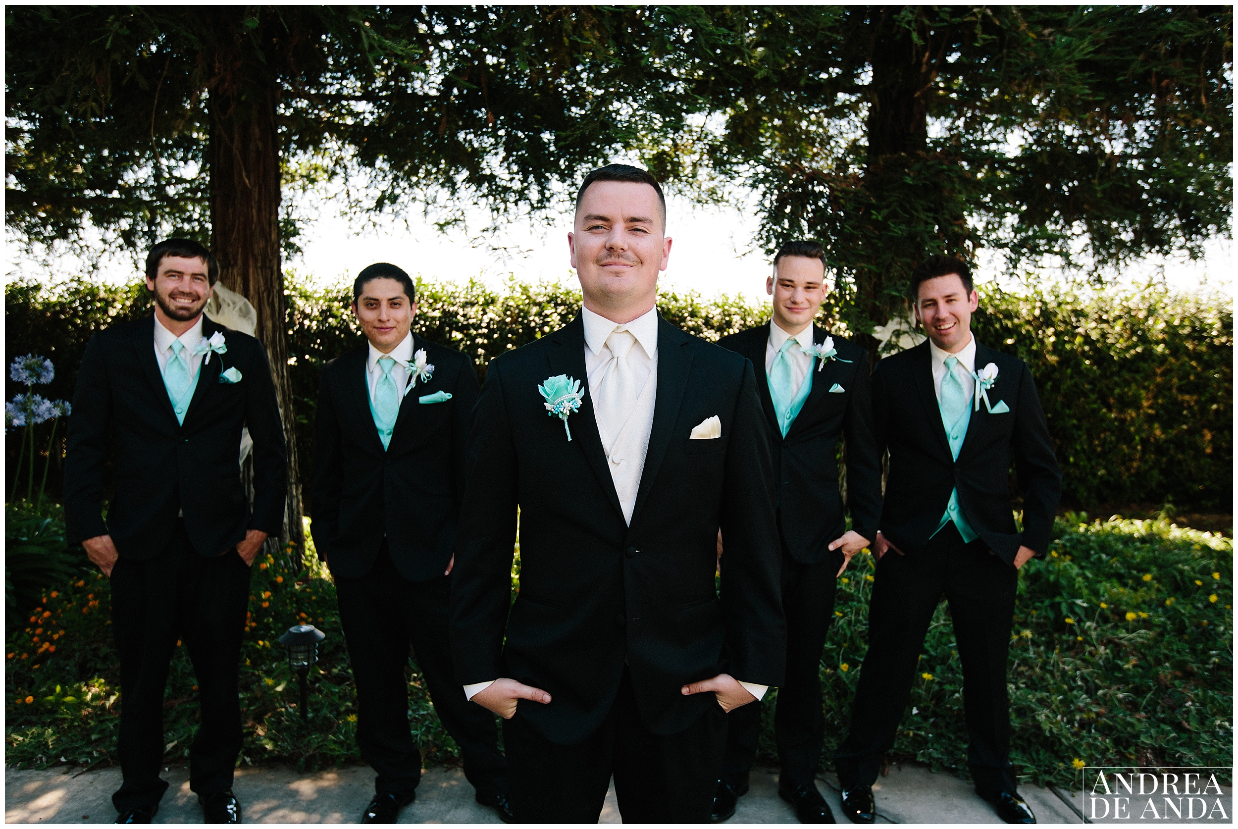 Groom and Groomsmen V pose