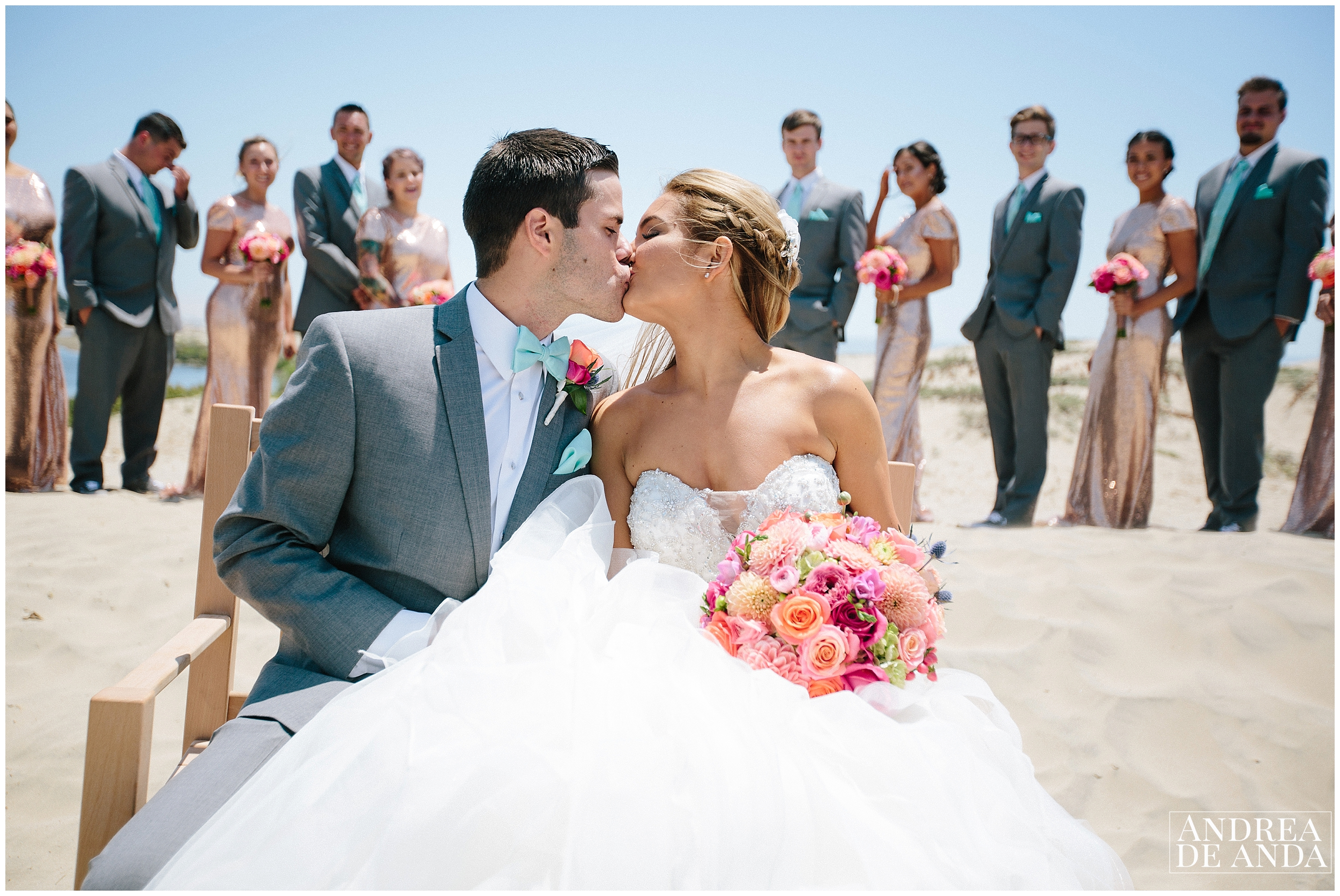 Bridal Party Portraits at Sea Venture Pismo Beach