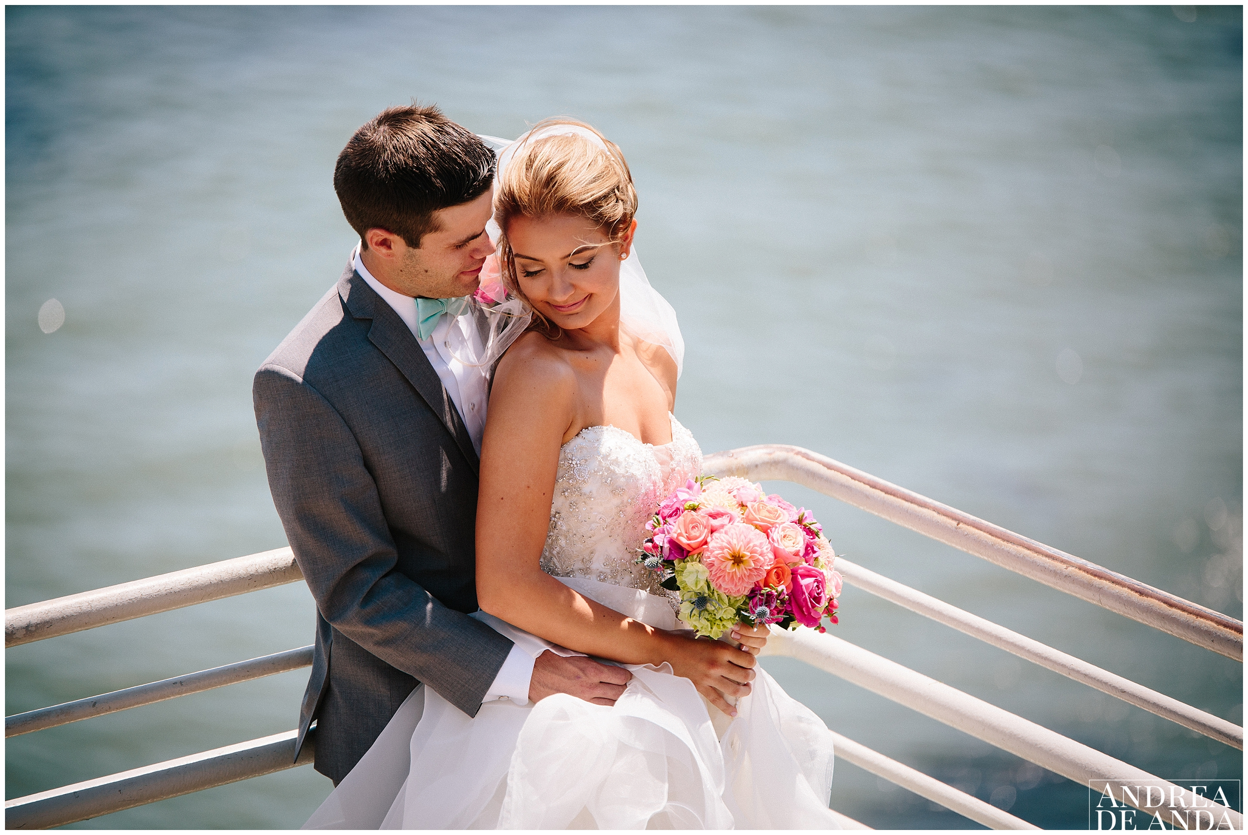 Bride and Groom Creative Portraits at Pismo Beach
