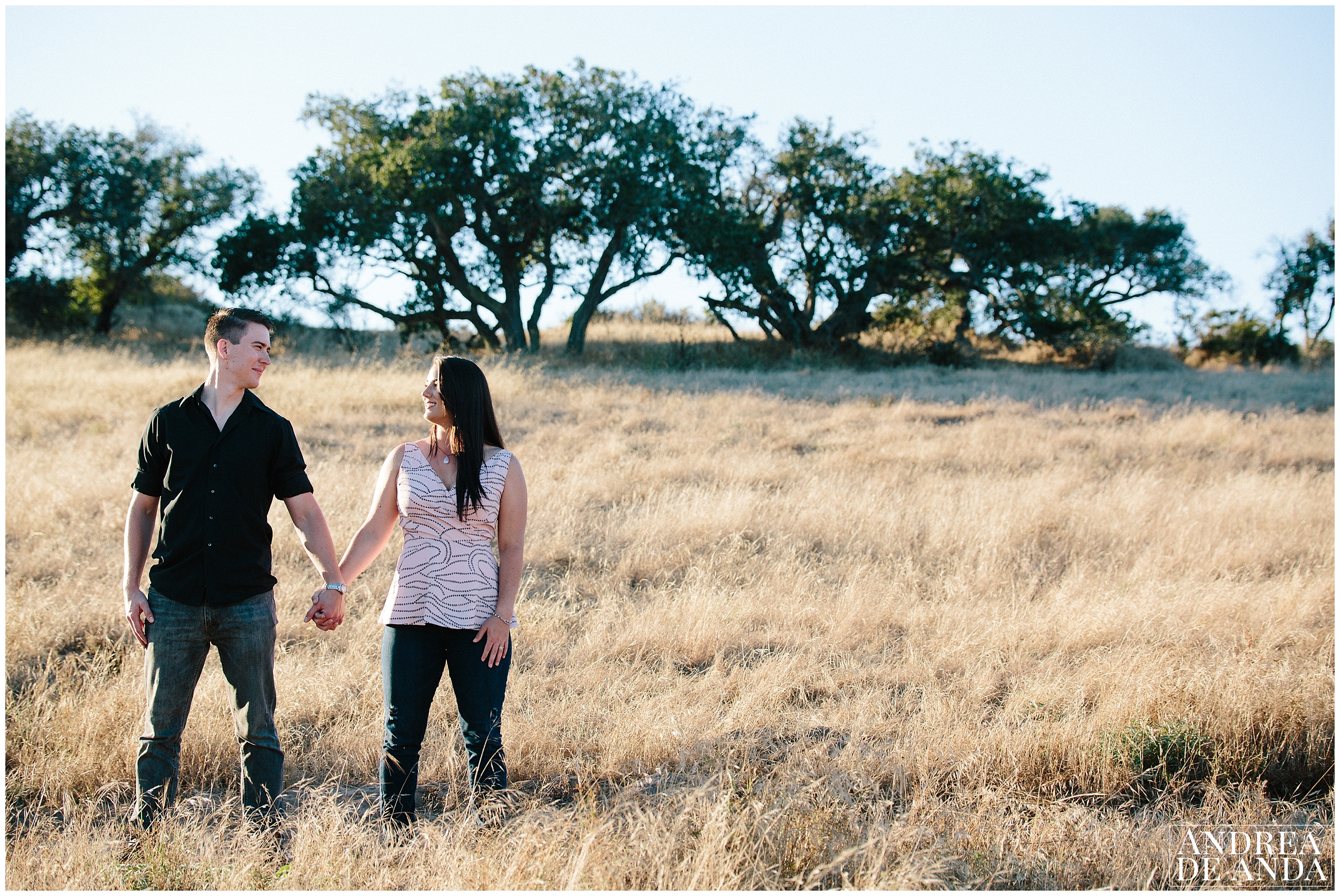 Engagement session Orcutt Hills, Bride and Grooms portraits by Andrea de Anda Photography