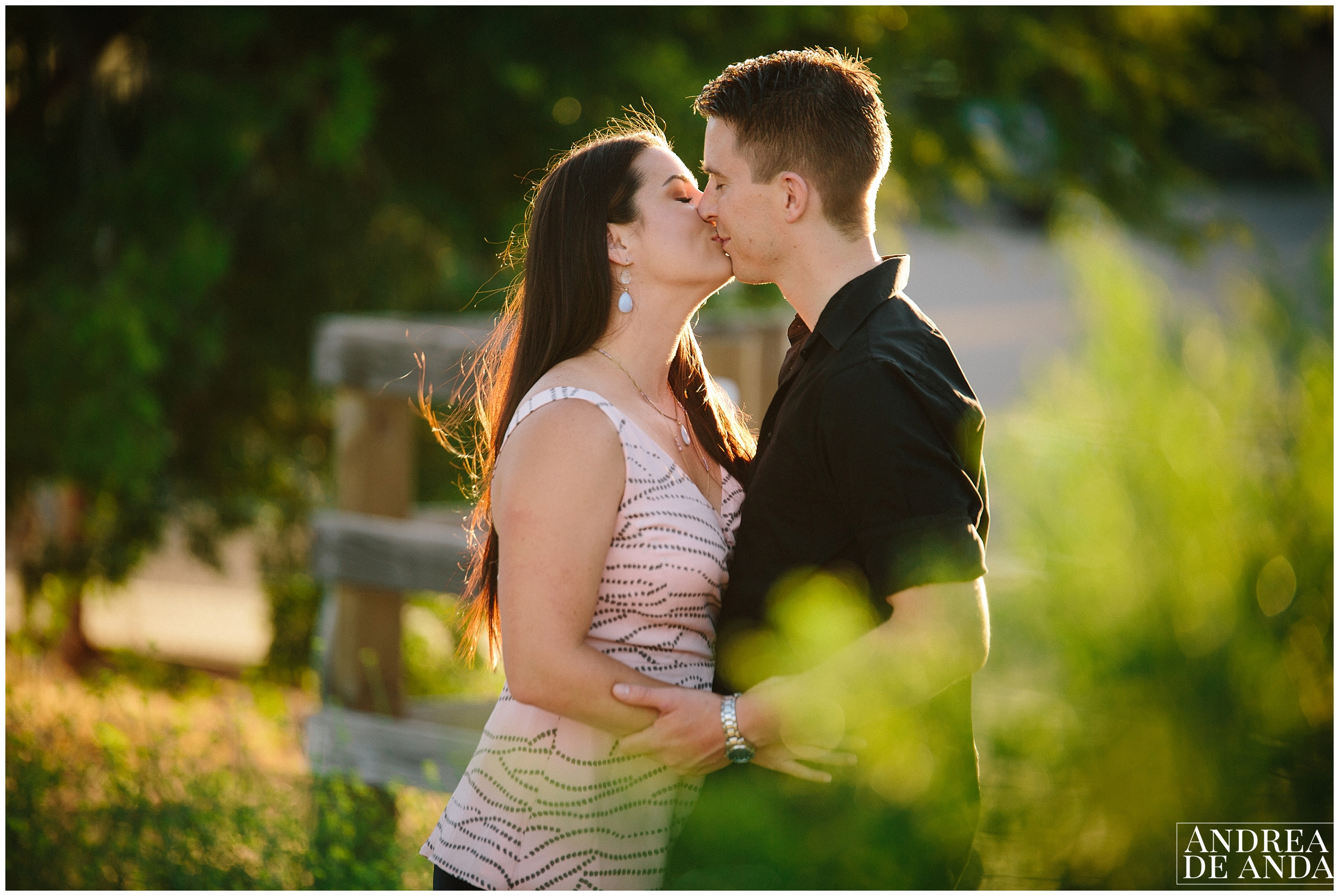 Beautiful Light and couple, Engagement session Orcutt Hills by Andrea de Anda Photography