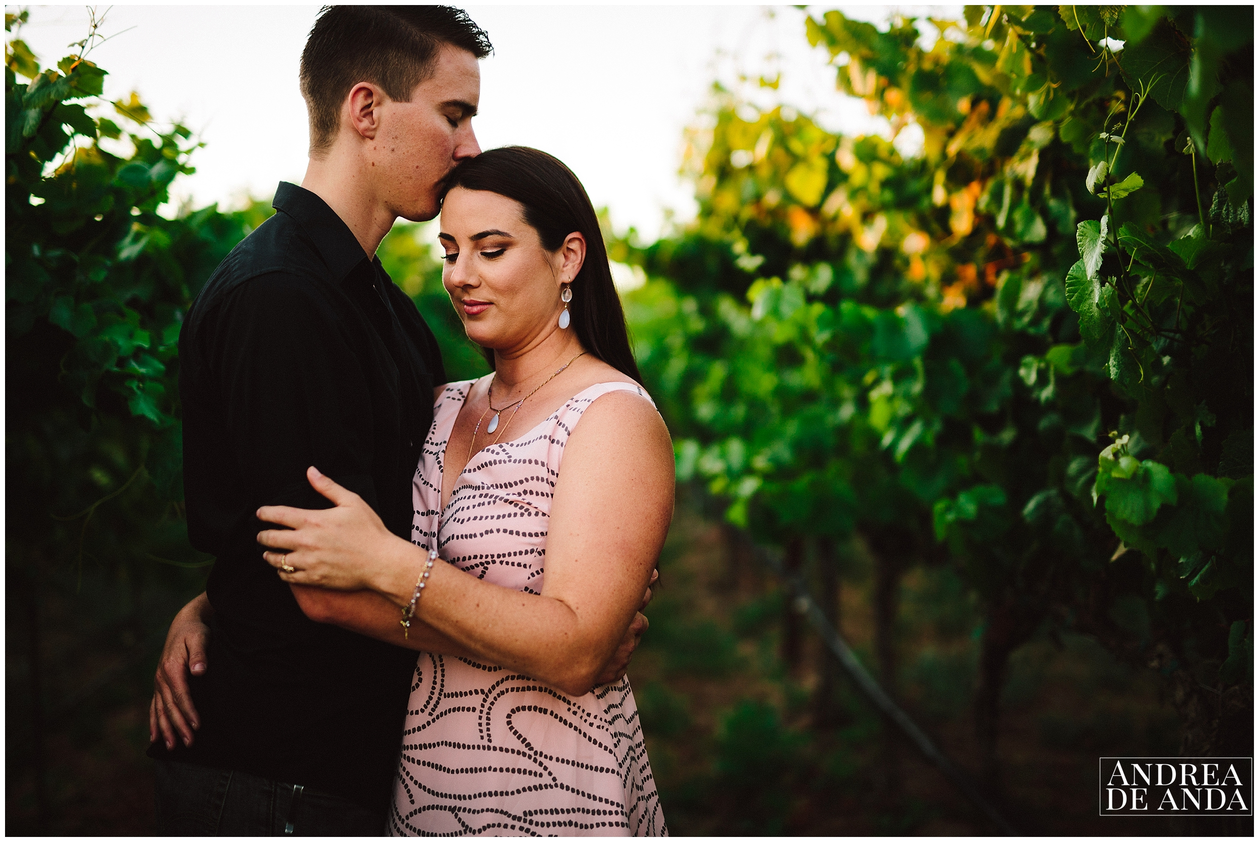 romanic posing Engagement session Orcutt Hills by Andrea de Anda Photography