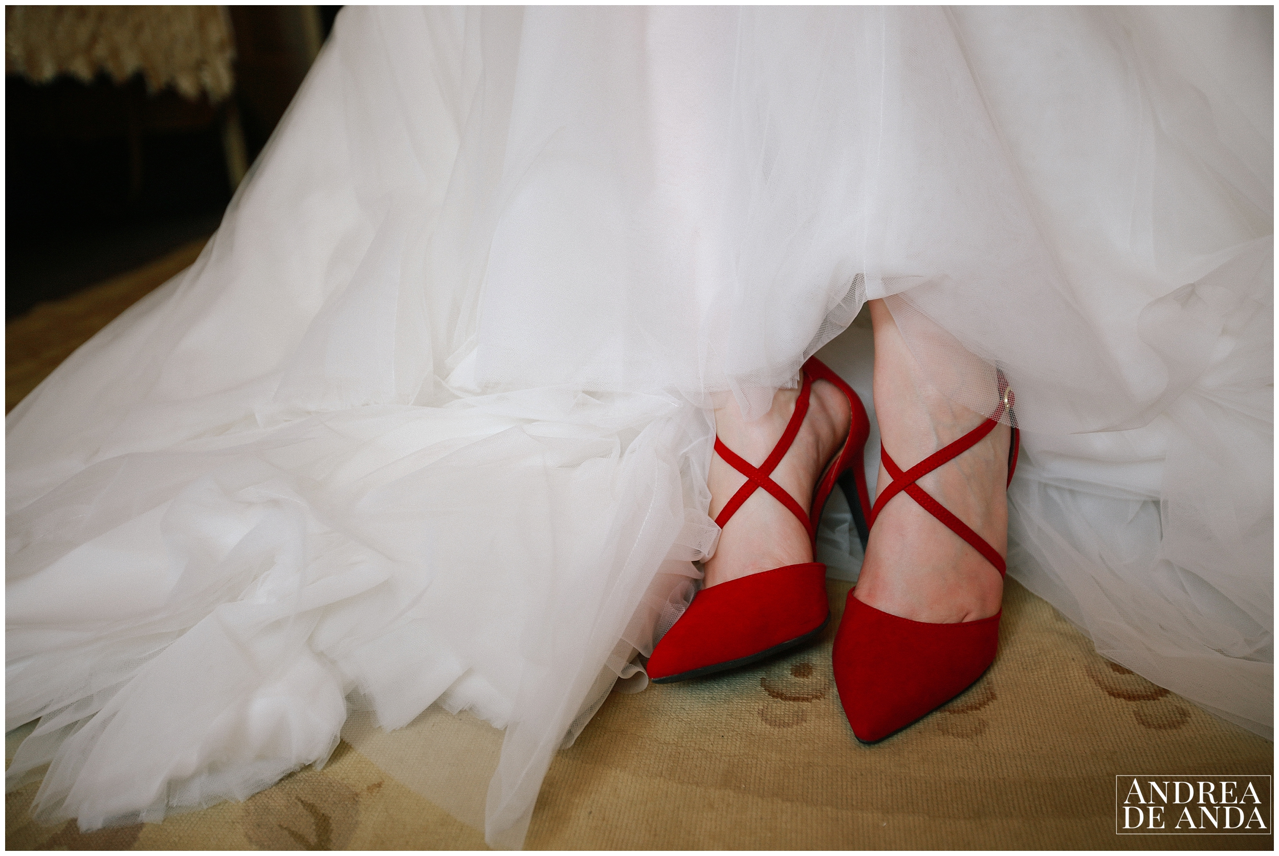 bride getting ready at Dana Powers bridal suite, bridal shoes