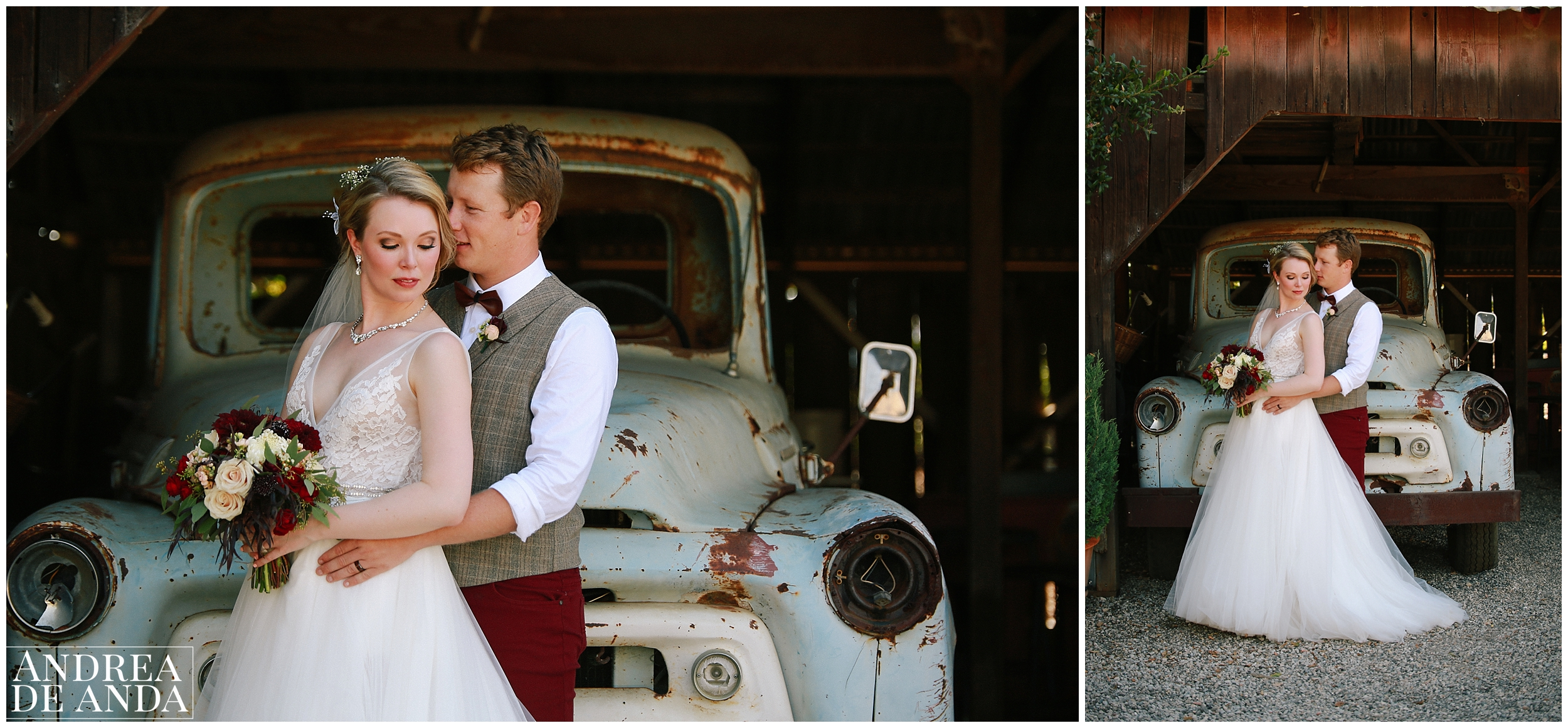 Bride and Groom creative photo session at the shed Dana Powers house and barn